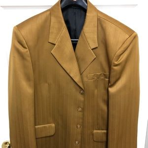 Suits & Blazers - Gold Polyester Gino Cappeli suit